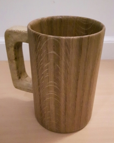 Tankard made from Oak